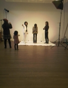On shoot with Boris promoting Smile
