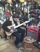 I took Dylan Carlson to Denmark Street during an Earth press trip