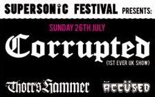 Supersonic Festival presents – Corrupted, Thorr's Hammer and The Accused in London