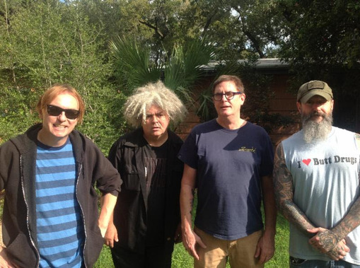 (Image by Mackie Osborne; Left to right: Dale Crover, Buzz Osborne, Paul Leary, JD Pinkus)