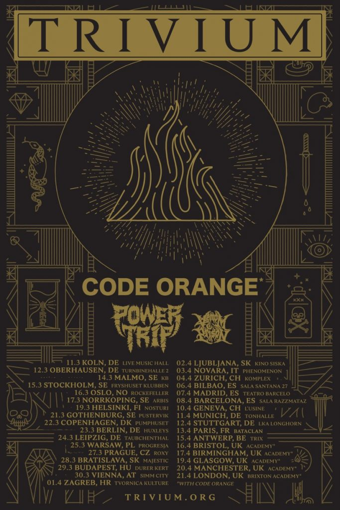 Power Trip announced as part of Trivium's