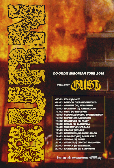 Gust announce European tour dates supporting BURN