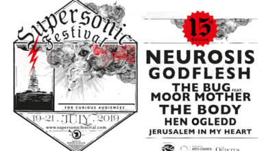 Supersonic announce Godflesh in support of headliners Neurosis at Birmingham's Town Hall, plus The Bug. Feat Moor Mother, The Body, Hen Ogledd & Jerusalem In My Heart also revealed