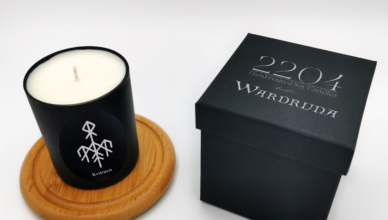 "Wardruna collaborate with 2204 to present the ""Kvitravn"" candle"
