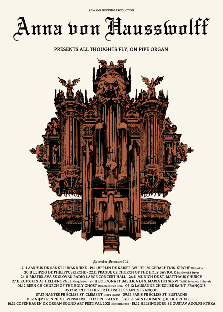 All Thoughts Fly Pipe Organ Tour Poster